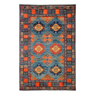"Contemporary Traditional Hand-Knotted Rug - 5' 10"" x 8' 10"""