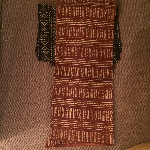 Terra Cotta African Mud Cloth - Image 4 of 4