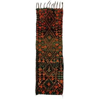 Vintage Moroccan Mid-Century Modern Tribal Style Berber Runner Rug - 2′7″ × 8′3″