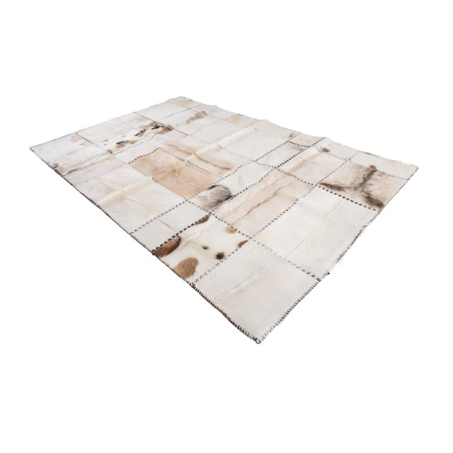 "Image of Hand Stitched Goatskin Patchwork Area Rug - 5'1"" x 8'1"""
