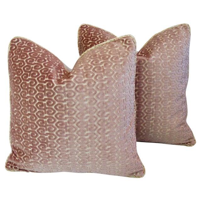 Designer Old World Weavers Velvet Pillows - A Pair - Image 1 of 11