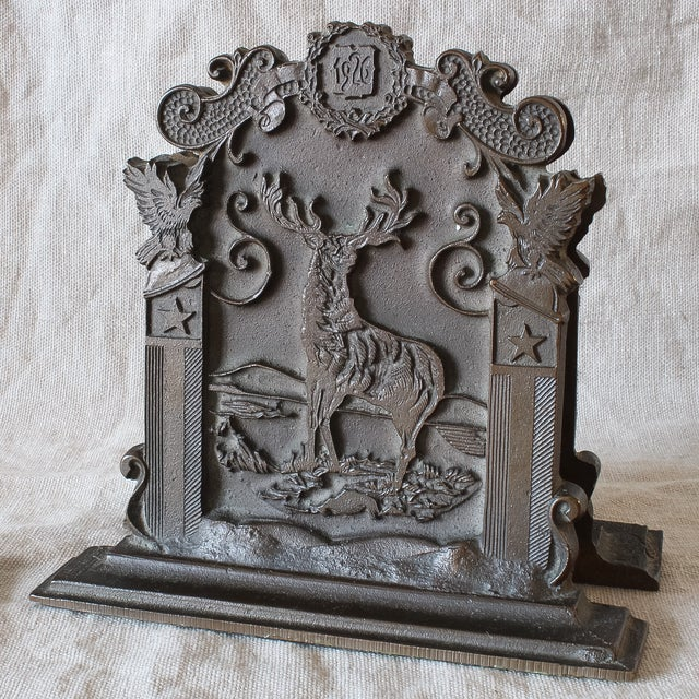 Antique Fraternal Bronze Elks Club Bookends - Pair - Image 6 of 8