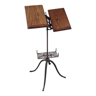 Victorian Wood & Iron Book Stand