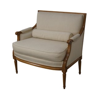 Quality Wide Seat French Louis XVI Bergere Canape