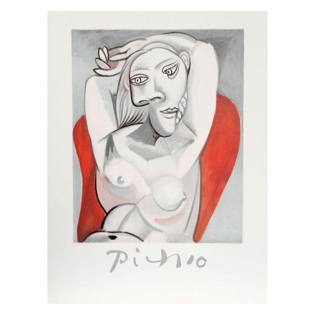 Pablo Picasso, Femme au fauteuil rouge, Lithograph - Image 2 of 2