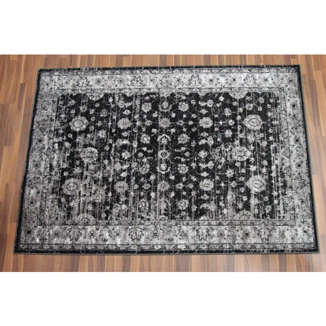 "Distressed Vintage Gray Rug Doormat - 1'8"" x 2'8"" - Image 2 of 5"