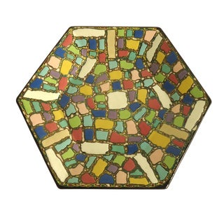 Faux Mosaic Pattern Studio Ceramic Catchall Tray