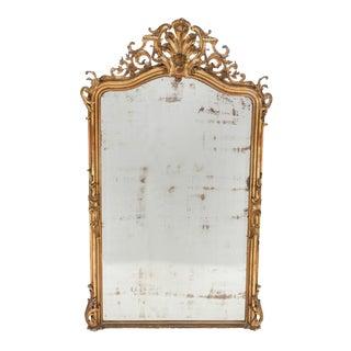 Mid 19th Century Louis XV-Style Giltwood Mirror