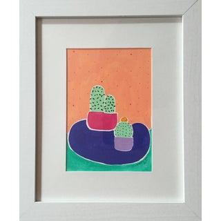 """Cacti"" Original Acrylic On Paper"