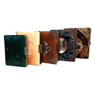Antique Art Nouveau Photo Albums - Set of 5