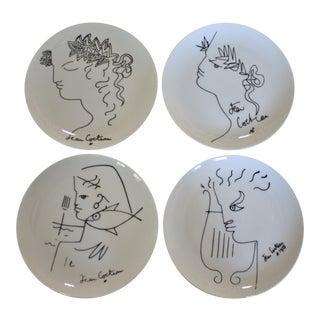 Limoges Vintage Jean Cocteau Plates - Set of 4