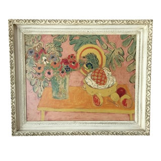 "Vintage Matisse ""Pineapple & Anemones"" Reproduction Painting"