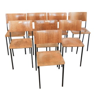 Swedish School Chairs - Set of 8