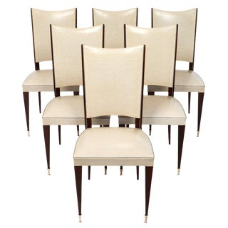 Set of 6 Mid-Century Curved Back Dining Chairs