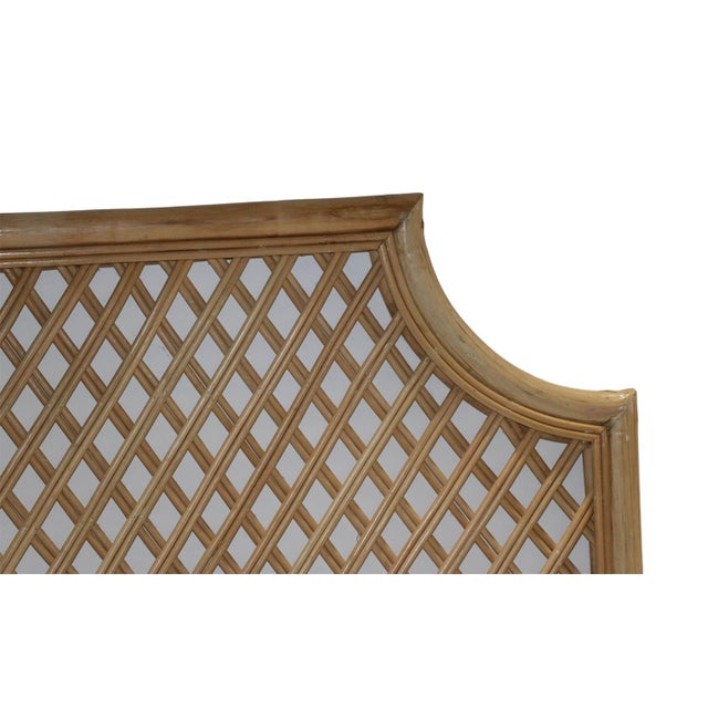 Vintage King Size Bamboo Rattan Headboard Chairish