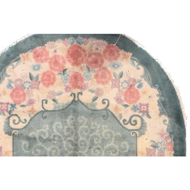 1920s Hand Made Antique Art Deco Chinese Rug - 5′ × 7′10″ - Image 3 of 7
