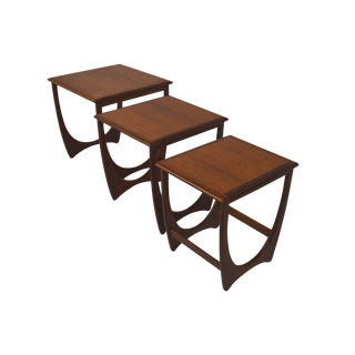 G Plan Mid-Century Nesting Tables - Set of 3
