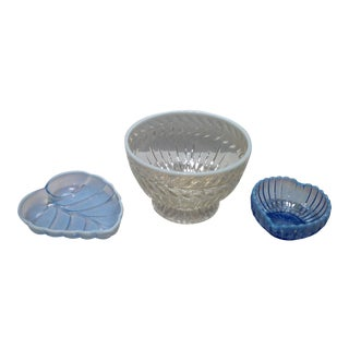 Fenton French Opalescent Glass Bowls - Set of 3