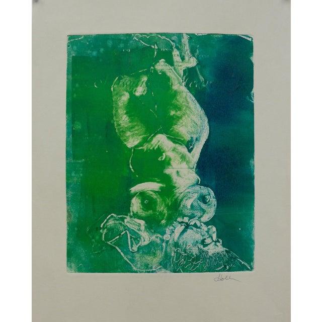 Mermaid in Green Monoprint - Image 2 of 4