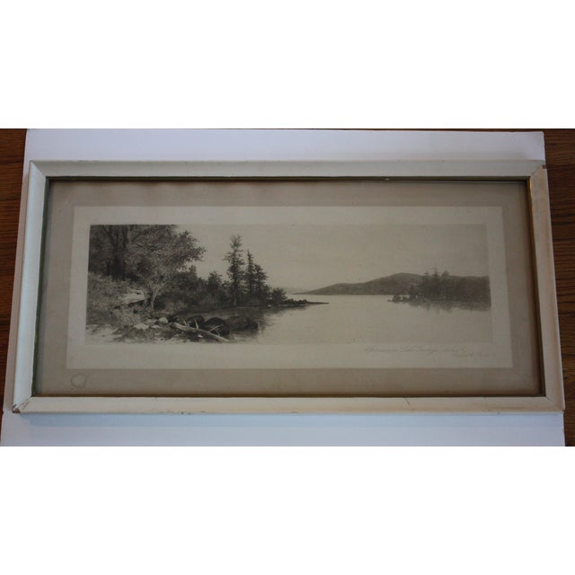 Image of Lake George Etching by Ernest C. Rost