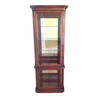 Contemporary Carved Mahogany Display Cabinet