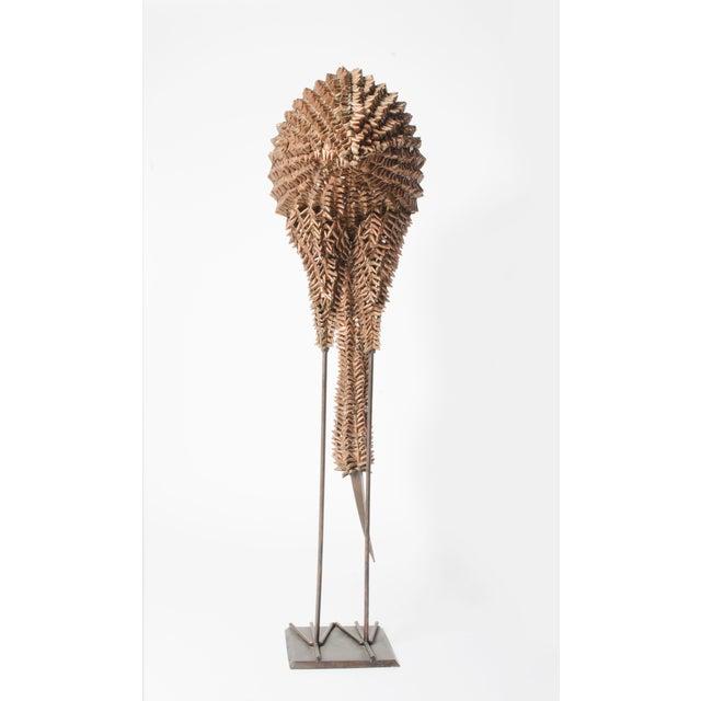 Bamboo and Metal Emu Sculpture - Image 3 of 5