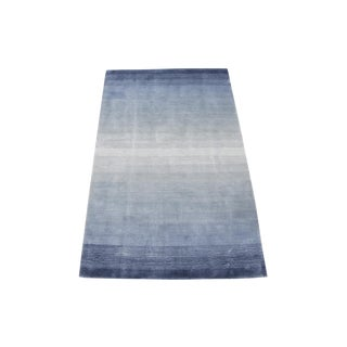 Contemporary Blue Ombre Rug - 3′1″ × 5′