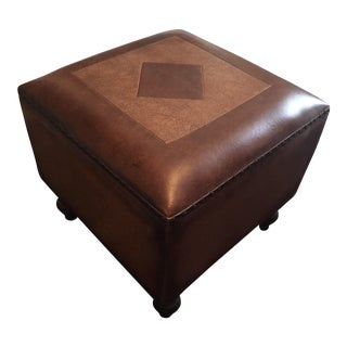 Chestnut Brown Ottoman