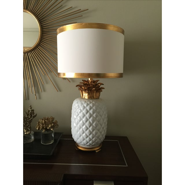 Vintage Inspired Pineapple Lamps- Pair - Image 2 of 7