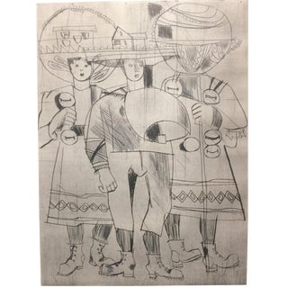 1950s Figurative Etching By Jacques Shedler