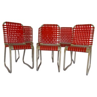 Mid-Century Aluminum Side Chairs - Set of 6