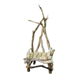 Hand Crafted Driftwood Throne Chair