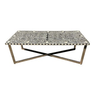 Black & White Bone Inlay Cocktail Table