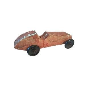 Handmade Race Car Pull Toy