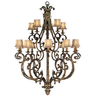 Fine Art Lamps Stile Bellagio Tortoised Crackle Finish 15-Light Chandelier