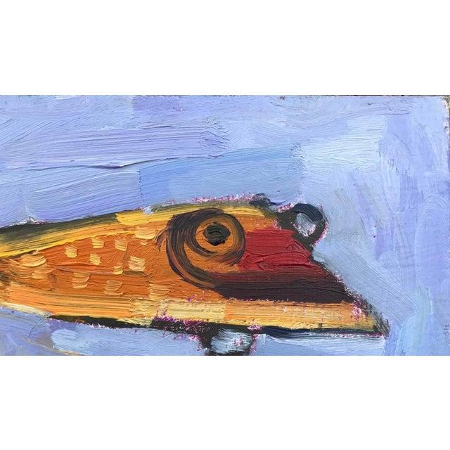 """Orange Fishing Lure"" Painting - Image 5 of 11"