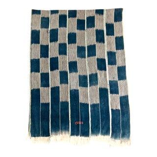 Vintage Ivory Coast Handwoven Indigo Textile