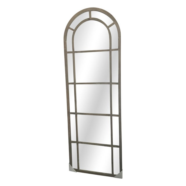 Arched Wood Mirror - Image 1 of 5