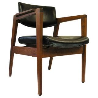 Gunlocke Vintage Modern Arm Chair with Desk Slide