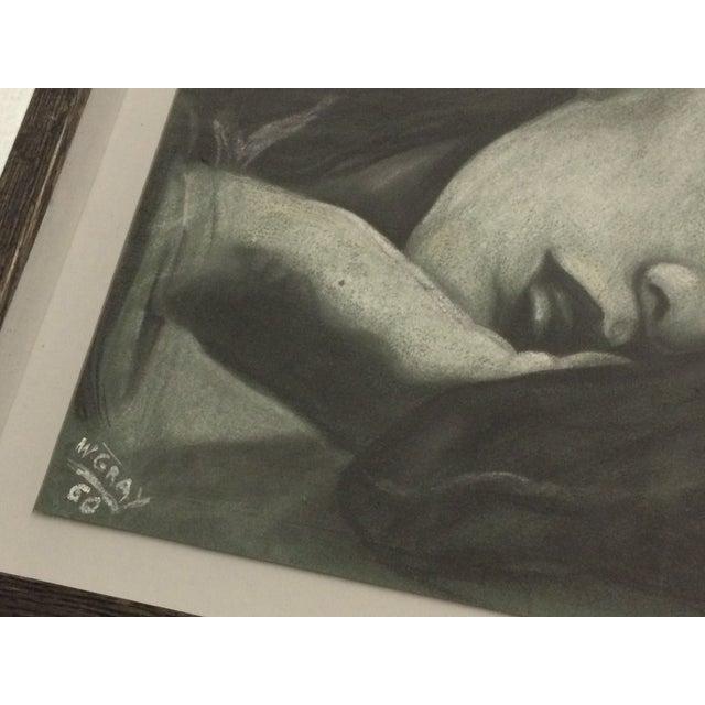 Sleeping Women Pastel Drawing Signed W. Gray - Image 5 of 6