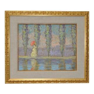 Vintage Impressionist Painting by Eva Sikorski