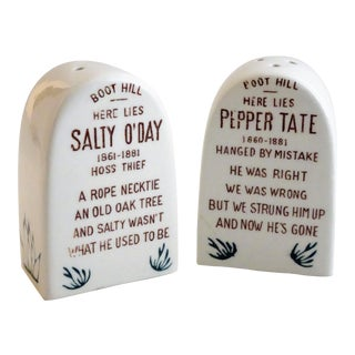 "Vintage Salt & Pepper Tombstones ""Pepper Tate & Salty O'Day"""