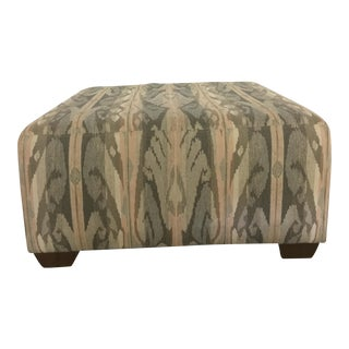 The MT Company Gable Gray & Pink Ikat Ottoman