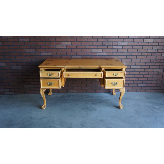 Vintage Pine Writing Desk - Image 8 of 9