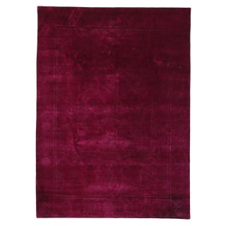 "Modern Raspberry-Fuchsia Contemporary Rug -- 7'2"" x 9'9"""