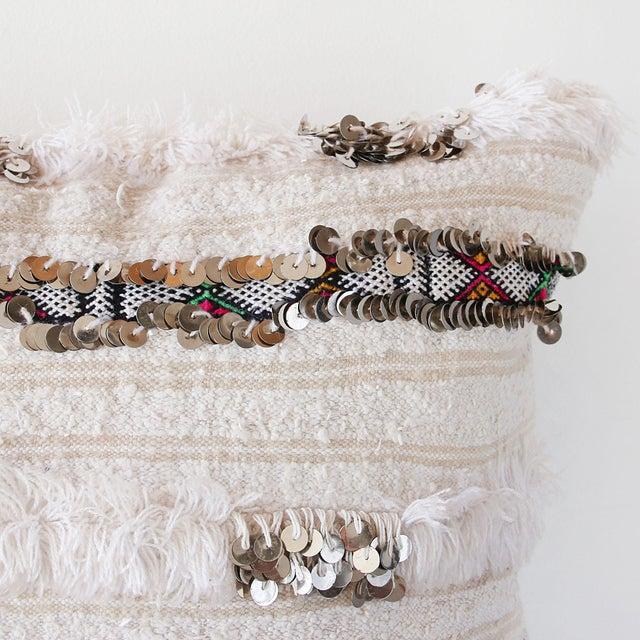 Image of Moroccan Handira Wedding Blanket Pillow III