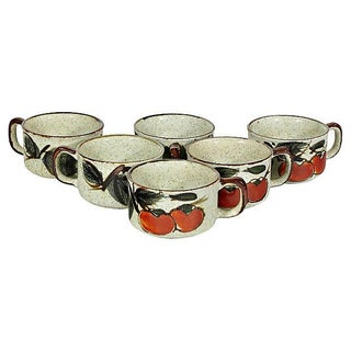 1970's Tomato Soup Bowls - Set of 6