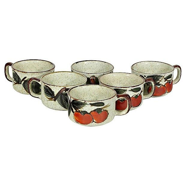 Image of 1970's Tomato Soup Bowls - Set of 6