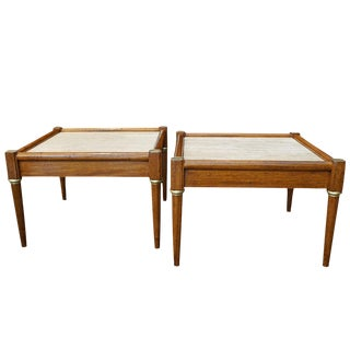 Travertine Top Side Tables