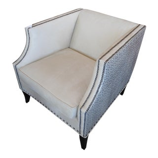 Bernhardt Cream Microvelvet Armchair